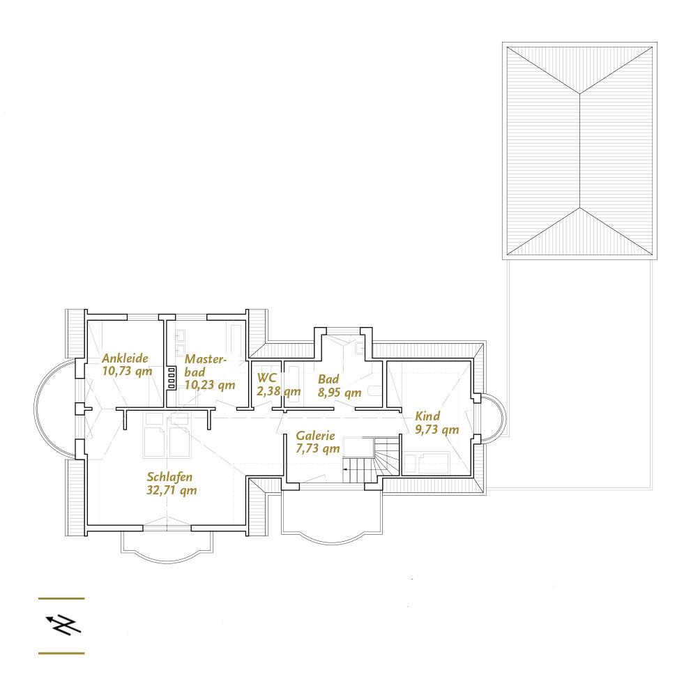 Grundriss herrschaftliches Anwesen Eberhard Horn Real Estate
